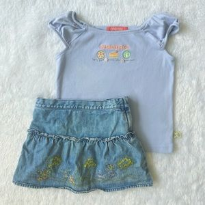 Gymboree • Tee & Skirt outfit
